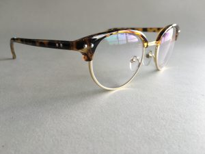 Half Rim Cateye Glasses for Women