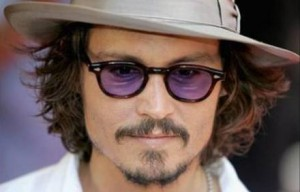 Johnny Depp with his cool tinted round prescription glasses
