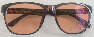 Tinted wayfarer prescription glasses