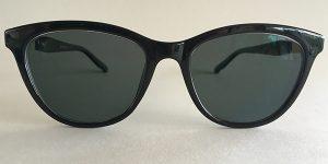 Black cateye prescription sunglasses