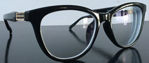 Sexy Cat eye glasses, black with embellishment on the temples