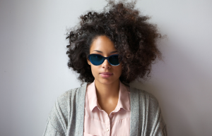 Blue cateye glasses