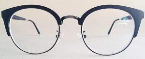 Round cateye glasses