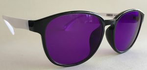 Clear With Black Frames with Purple Tint