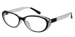 Clear with Black oval frames
